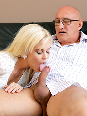 Teen Candee Licious copulates with boyfriend's handsome dad